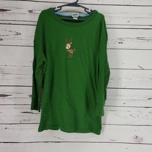 Old Navy Perfect Fit Green Oh My Deer Long Sleeve